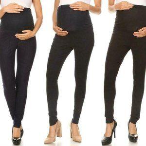 3 PK JVINI Women Maternity Skinny Pants Bump Band